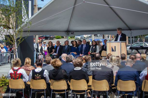 Mayor of Seattle Jenny Durkan US Congress Member Rick Larsen Denmark Foreign Minister Anders Samuelsen Her Royal Highness the Crown Princess Mary of...