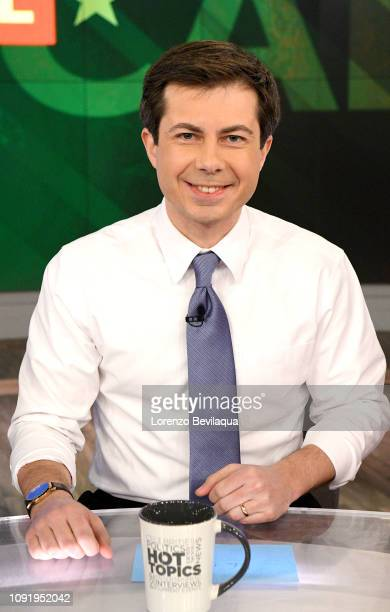 "Mayor of South Bend, Indiana and democratic presidential candidate Pete Buttigieg visits Walt Disney Television via Getty Images's ""The View"" on..."