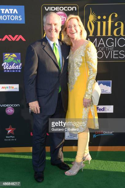Mayor of Tampa Bob Buckhorn and wife Catherine Buckhorn arrive to the IIFA Magic of the Movies at MIDFLORIDA Credit Union Amphitheatre on April 25...
