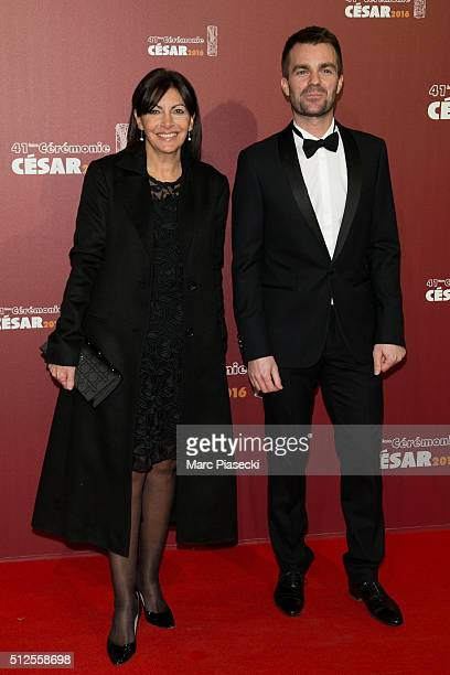 Mayor of the city of Paris Anne Hidalgo and guest arrive to attend the 'Cesars Film Awards 2016' ceremony at Theatre du Chatelet on February 26 2016...