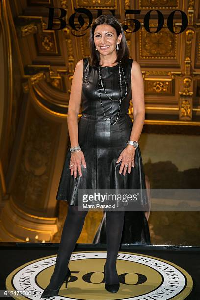 Mayor of the city of Paris Anne Hidalgo attends the 'BoF500' Cocktail Event as part of the Paris Fashion Week Womenswear Spring/Summer 2017 at Hotel...