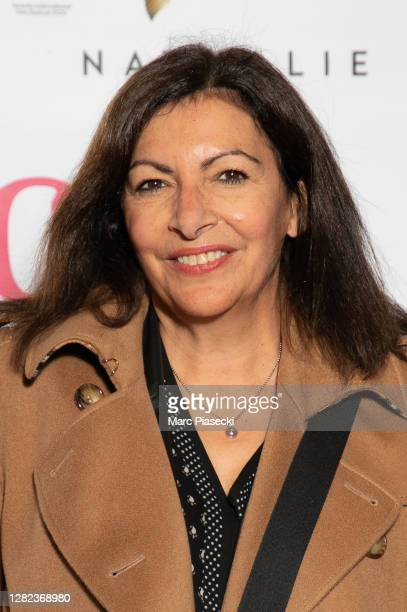 "Mayor of the city of Paris Anne Hidalgo attends the ""Garcon Chiffon"" premiere at UGC Les Halles on October 26, 2020 in Paris, France."