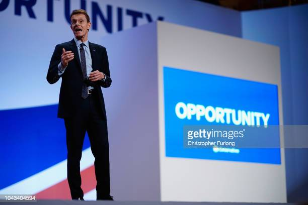 Mayor of the West Midlands Andy Street speaks during the annual Conservative Party Conference on September 30 2018 in Birmingham England The...