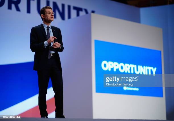 Mayor of the West Midlands Andy Street speaks during the annual Conservative Party Conference on September 30, 2018 in Birmingham, England. The...