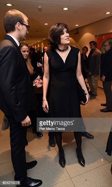Mayor of Turin Chiara Appendino attends the cocktail for the Opening Ceremony and 'Between Us' premiere during the 34 Torino Film Festival on...
