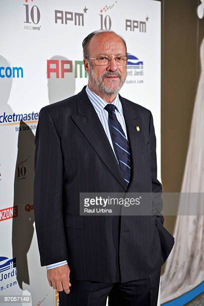 Mayor of Valladolid Javier Leon de la Rivaposes during the 10th anniversary celebration of APM Music Promoters Association on February 25 on February...