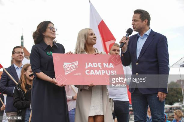 Mayor of Warsaw Rafal Trzaskowski is seen in Gdansk, Poland on 12 June 2021 Trzaskowski visits Gdansk to meet with mayor of the city on promote his...