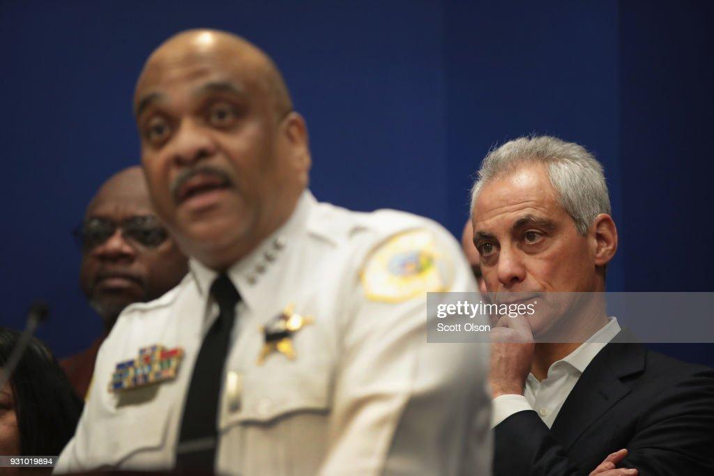 Mayor Rahm Emanuel and Police Superintendent Eddie Johnson