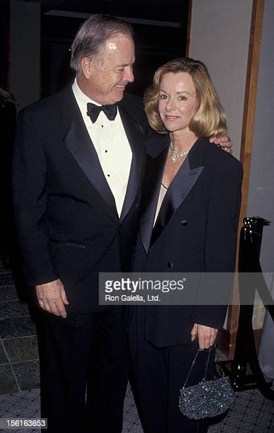 Mayor Richard Riordan and wife Nancy Daly attend 50th Anniversary Party for Charlton Heston and Lydia Heston on March 18 1994 at the Hotel Nikko in...