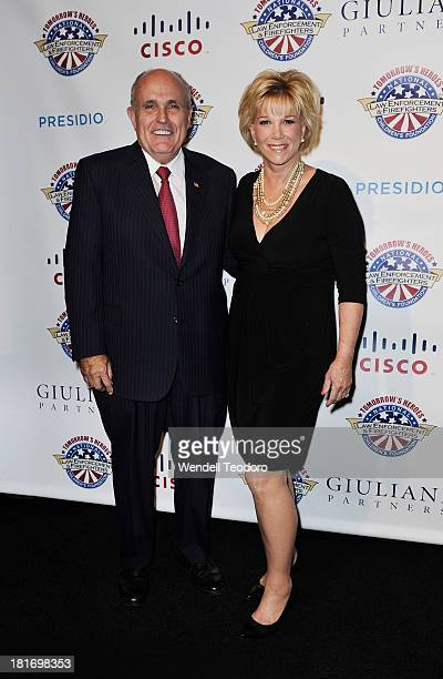 Mayor Rudolph Giuliani and TV Personality Joan Lunden attend the 2013 Children's Foundation Hero Awards Gala at The Edison Ballroom on September 23...