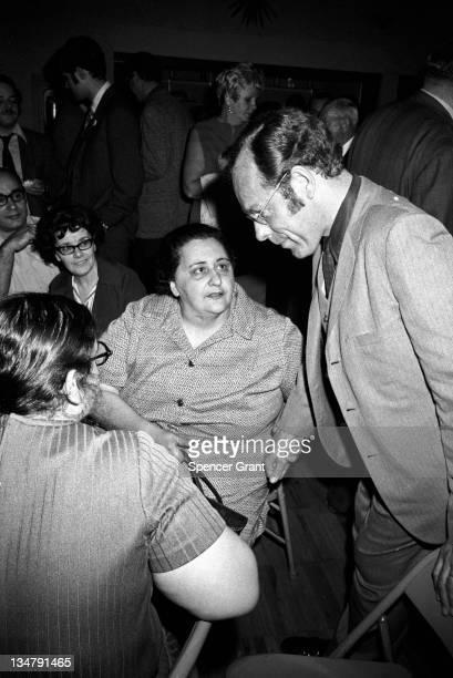 Mayor S. Lester Ralph and supporter on election night, Somerville, Massachusetts, 1970.