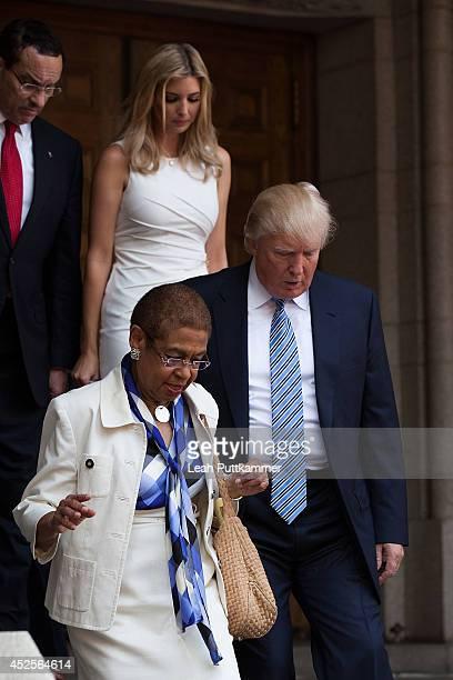Mayor Vincent Gray, Ivanka Trump, Rep. Eleanor Holmes Norton , and Donald Trump attend the Trump International Hotel Washington, D.C Groundbreaking...