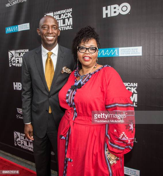 Mayor Wayne Messam and Jill Tracey attends 2017 American Black Film Festival on June 14 2017 in Miami Florida