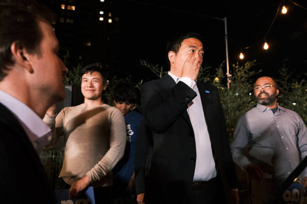 NY: Mayoral Candidate Andrew Yang Holds Primary Night Event In Hell's Kitchen