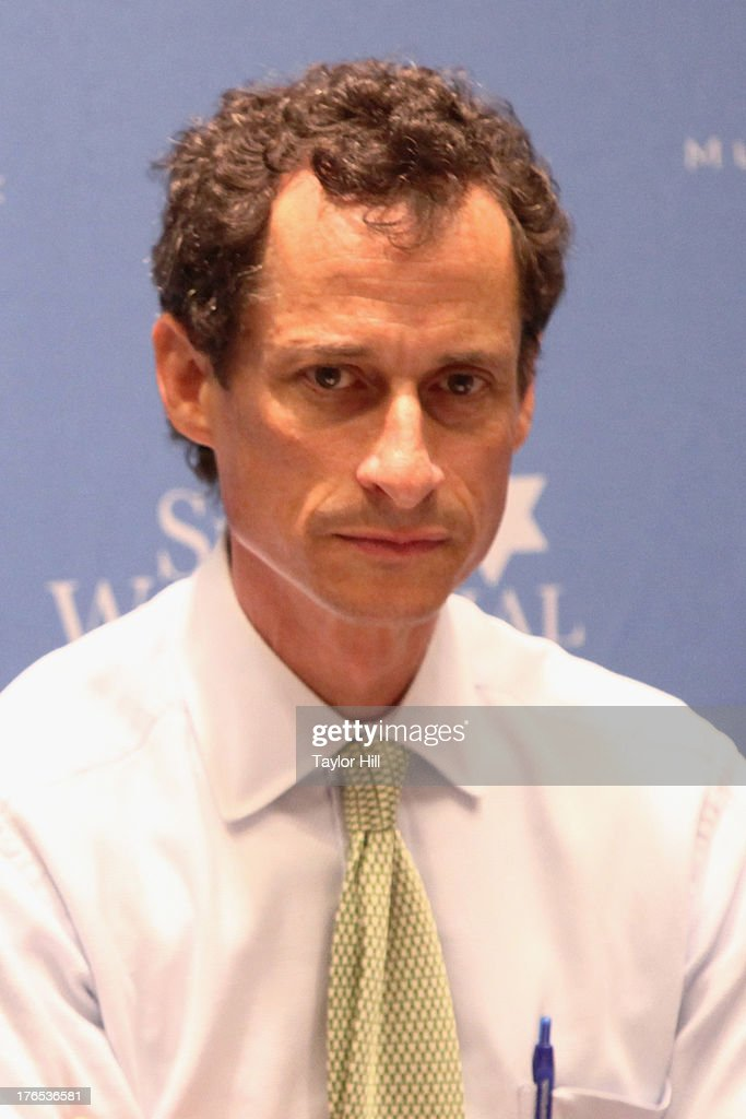 Mayoral candidate Anthony Weiner attends The New York City Mayoral Forum on Cultural Sensitivity & Tolerance at the Museum of Tolerance on August 14, 2013 in New York City.