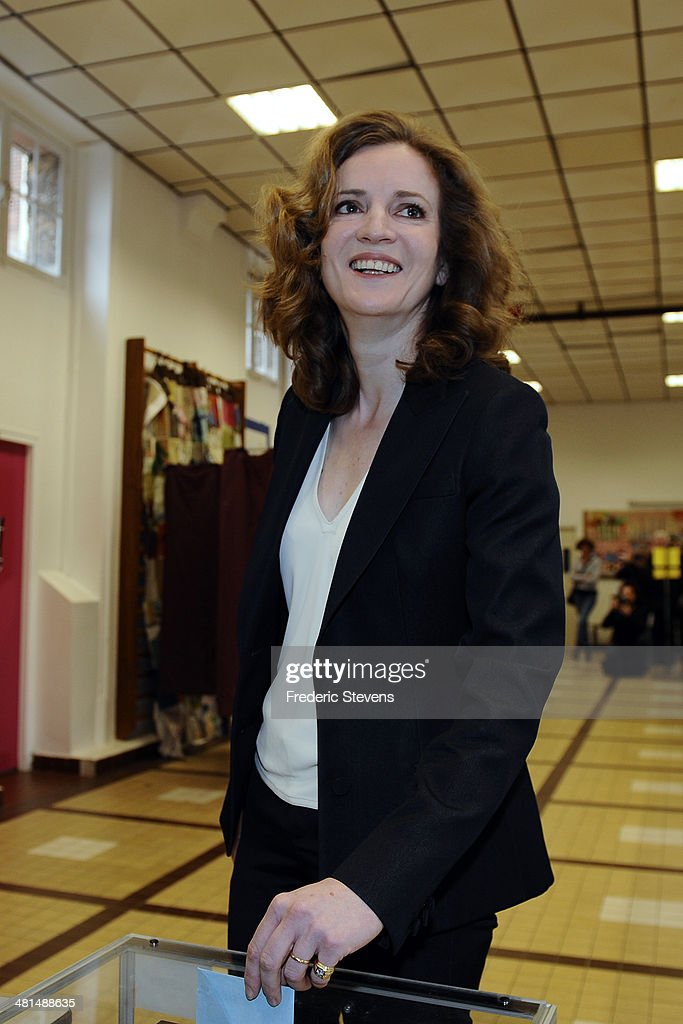 Paris UMP Mayoral Candidate Nathalie Kosciusko-Morizet During The Municipal Elections