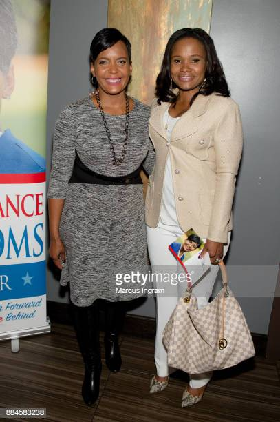 Mayoral candidate Keisha Lance Bottoms and Dr Heavenly Kimes attend the runoff fundraiser for Keisha Lance Bottoms at Chama Gaucha Brazilian...