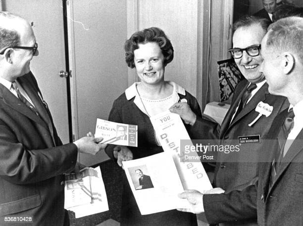 MAY 6 1967 SEP 15 1967 FEB 9 1970 JUL 21 1970 Mayoral Candidates Offer Campaign Literature To President 0f Denver League Of Women Voters Offering...