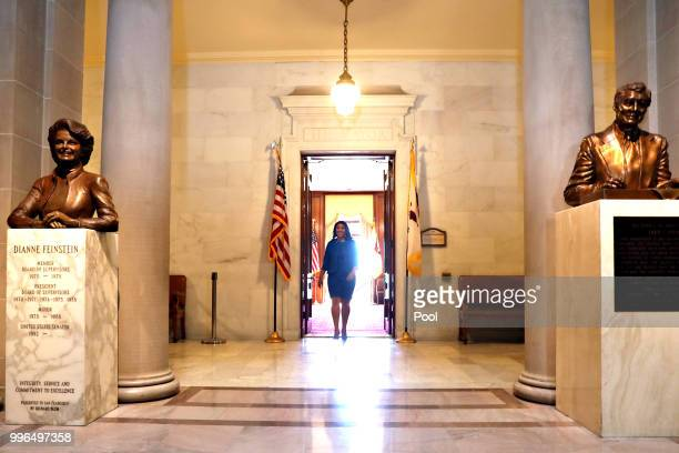 Mayorelect London Breed leaves the mayor's office before her inauguration at City Hall July 11 2018 in San Francisco California