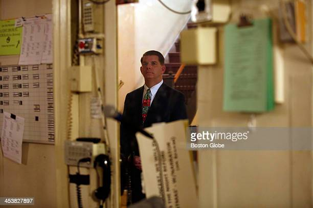 Mayorelect Marty Walsh waits backstage before heading out to read 'Twas the Night Before Christmas at the opening night of Holiday Pops in Boston on...