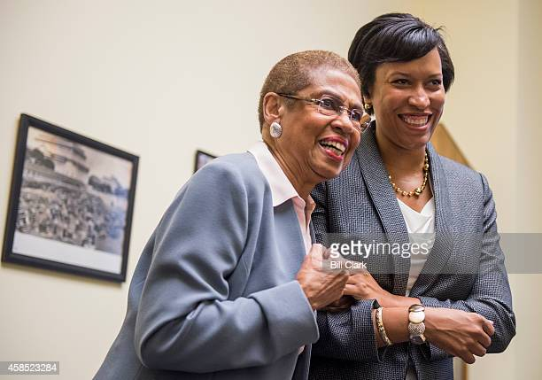 MayorElect Muriel Bowser DDC right meets with Del Eleanor Holmes Norton DDC in Norton's Rayburn office at the Capitol on Thursday Nov 6 2014
