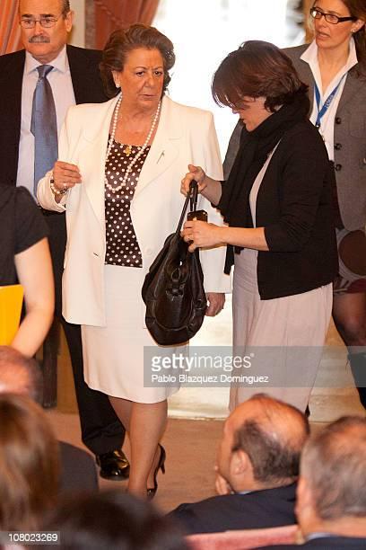 Mayoress of Valencia Rita Barbera attends 'Ciudad de la Ciencia y la Innovacion' Awards at CSIC Central Office on January 13 2011 in Madrid Spain