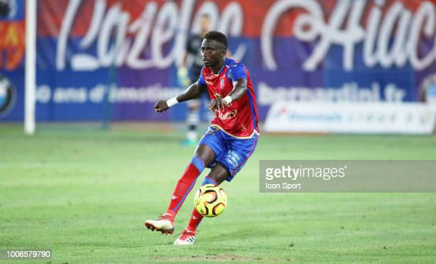 Mayoro Ndoye Baye of Gazelec during the Ligue 2 match between Gazelec Ajaccio and Paris FC at Stade Ange Casanova on July 27 2018 in Ajaccio France