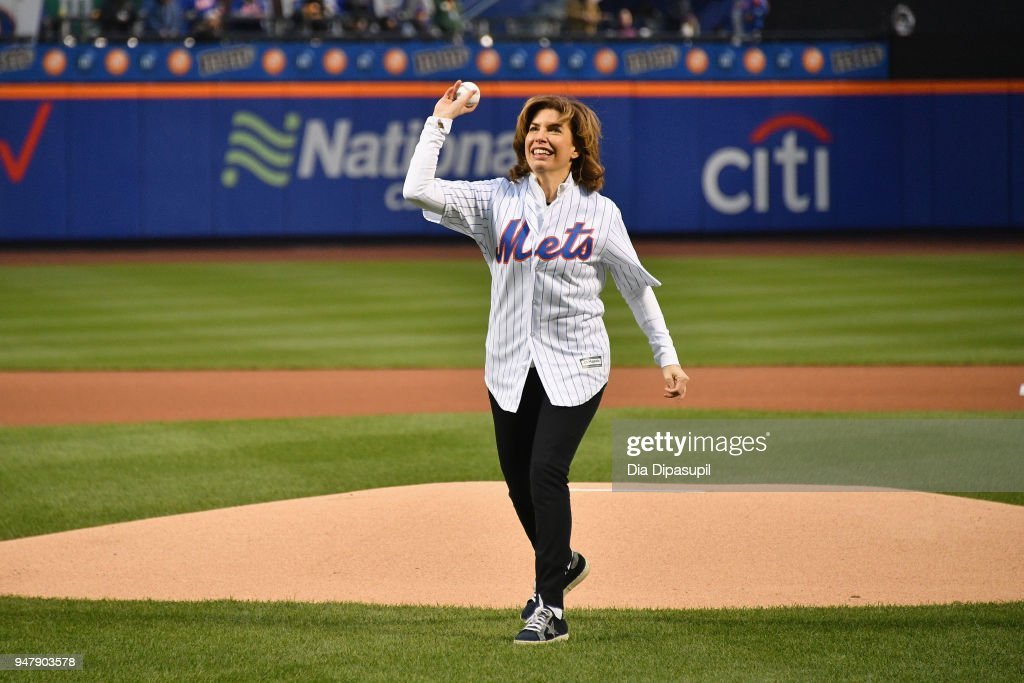 Mayor's Office of Media and Entertainment Commissioner Julie Menin (pictured) today joined the iconic VMA Moon Person and Bruce Gillmer, Global Head of Music/Talent, Co-Brand Lead, MTV International to throw the first pitch at Citi Field. The 2018 'MTV VMAs' will air live on Monday, August 20 from Radio City Music Hall.