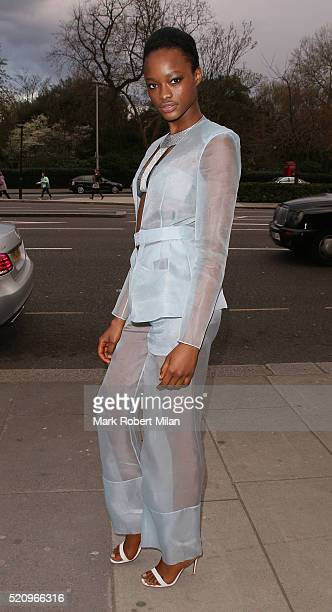 Mayowa Nicholas attending 'Undressed A Brief History of Underwear' Private View at the VA on April 13 2016 in London England