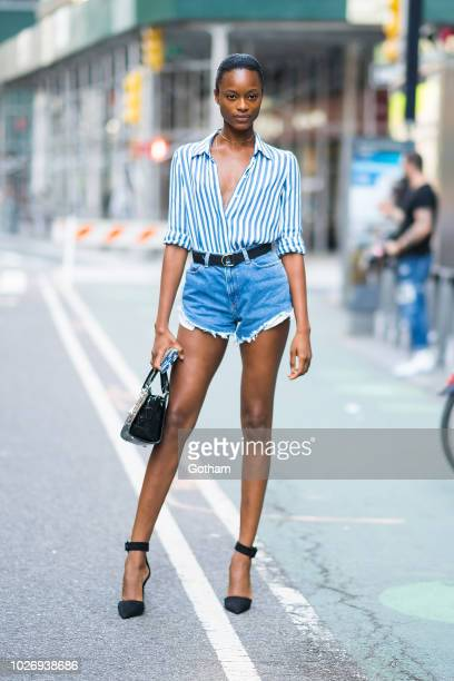 Mayowa Nicholas attends casting for the 2018 Victoria's Secret Fashion Show in Midtown on September 4 2018 in New York City