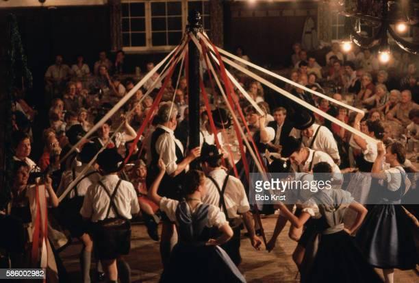 Maypole Dance in Beer Hall