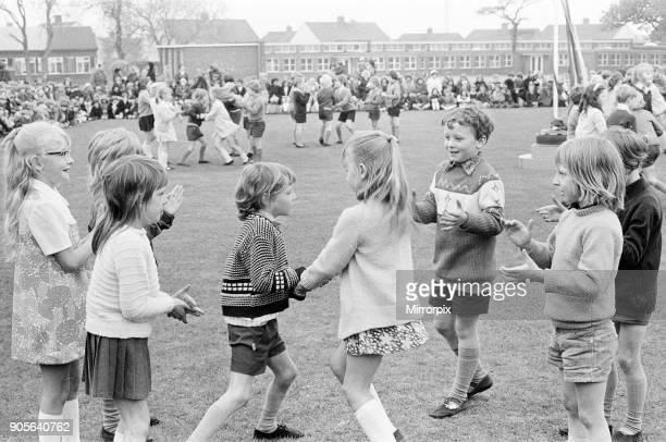 Maypole Dancing, Roseworth Junior School, Stockton-on-Tees, England, Circa May 1973.
