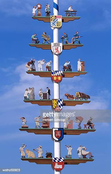 Maypole in Cham, Bavaria, Germany