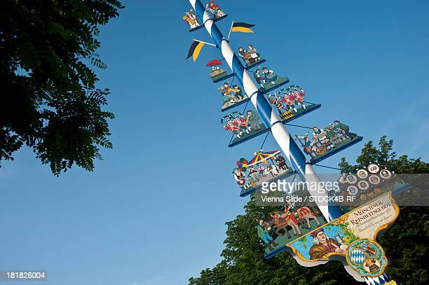 Maypole on Viktualienmarkt, Munich, Bavaria, Germany