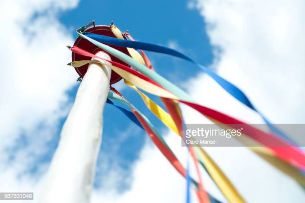 maypole - labor day stock pictures, royalty-free photos & images