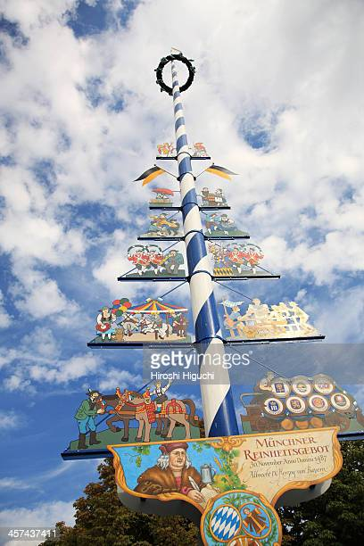 Maypole,Germany, Munich, Viktualienmarkt