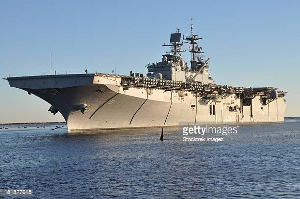 Mayport, Florida, November 2, 2012 - The amphibious assault ship USS Bataan (LHD 5) arrives at Naval Station Mayport, Florida.