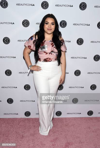 Mayra Garcia attends the 5th Annual Beautycon Festival Los Angeles at the Los Angeles Convention Center on August 12 2017 in Los Angeles California