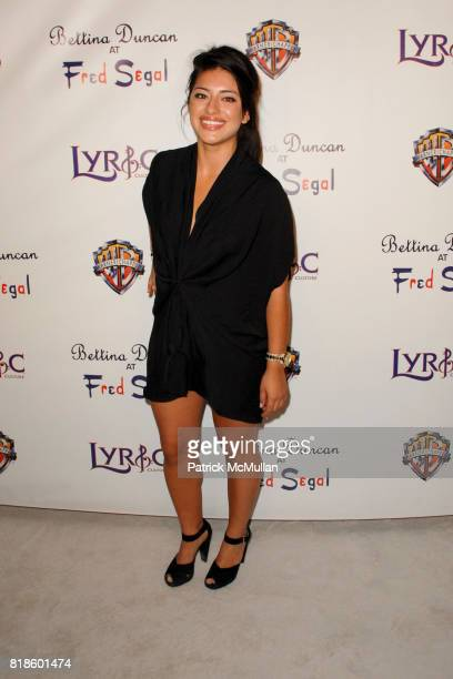 Mayra Leal attend Lyric Culture Launches It's Nude Collection At Bettina Duncan at Fred Segal on August 10th 2010 in Santa Monica California