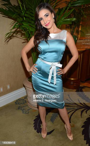 Mayra Veronica attends the Hollywood Foreign Press Association's 2012 Installation Luncheon held at the Beverly Hills Hotel on August 9 2012 in...