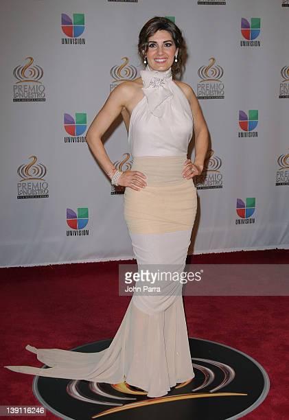 Mayrin Villanueva arrives at the Premio Lo Nuestro a La Musica Latina at American Airlines Arena on February 16 2012 in Miami Florida