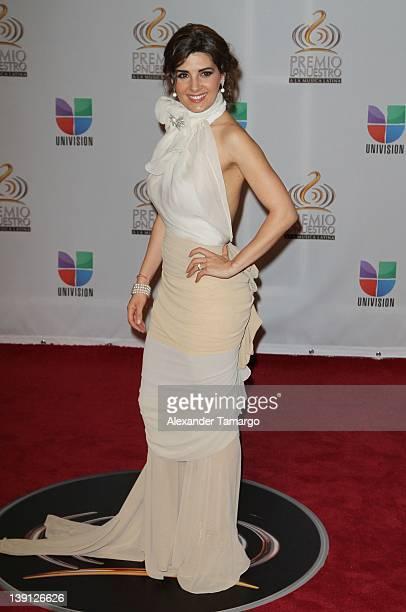 Mayrin Villanueva arrives at Univision's Premio Lo Nuestro a La Musica Latina at American Airlines Arena on February 16 2012 in Miami Florida