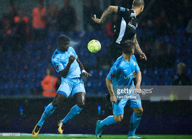 Mayron George of Randers FC in action during the Danish Alka Superliga match between Randers FC and Silkeborg IF at BioNutria Park on August 18 2017...