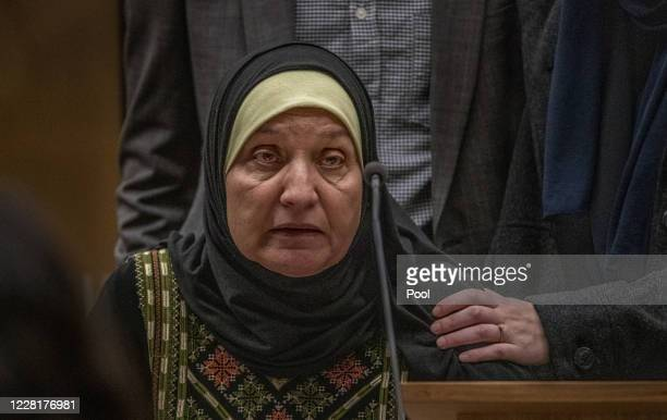 Maysoon Salama is seen during the sentencing hearing for Christchurch mosque gunman Brenton Tarrant at Christchurch High Court on August 24 2020 in...