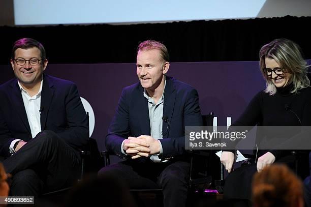 Maytag Senior Brand Manager Brendan Bosch Warrior Poets Filmmaker CEO and President Morgan Spurlock and Ketchum VP of Branded Entertainment Kelly...