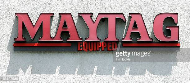 Maytag sign is seen outside a Maytagequipped laundromat June 22 2005 in Glenview Illinois Chinese appliance maker Haier has shown interest in the...