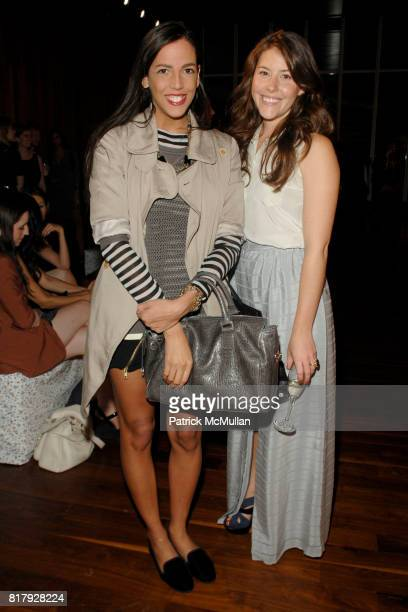 Mayte Allende and Alexandra O'Neill attend PORTER GREY Spring 2011 Presentation at High Line Room on September 11 2010 in New York City