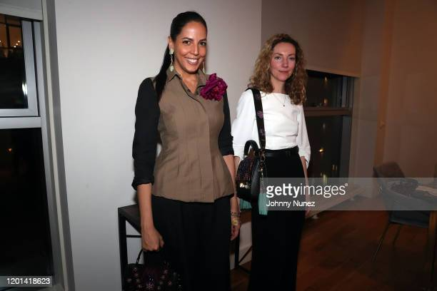 Mayte Allende and Jessica Iredale attend the Marias By Alida Boer Cocktail Reception on January 22, 2020 in New York City.