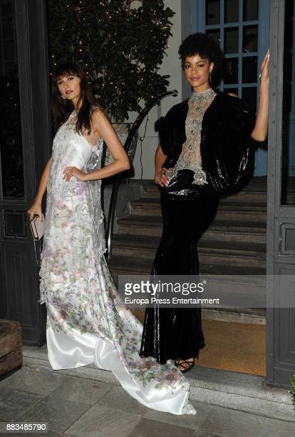 Mayte de la Iglesia and Godeliv Van Den Brandt attend the Hannibal Laguna 30th anniversary Gala Dinner at the Santo Mauro hotel on November 30 2017...