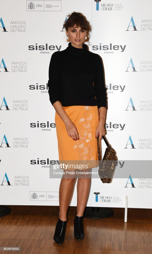 Mayte de la Iglesia attends the 'El armario de Carmen Lomana' opening exhibition at Costume museum on February 21, 2018 in Madrid, Spain.